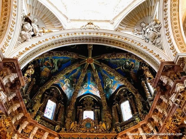 Detalle del altar mayor de la Catedral de Valencia