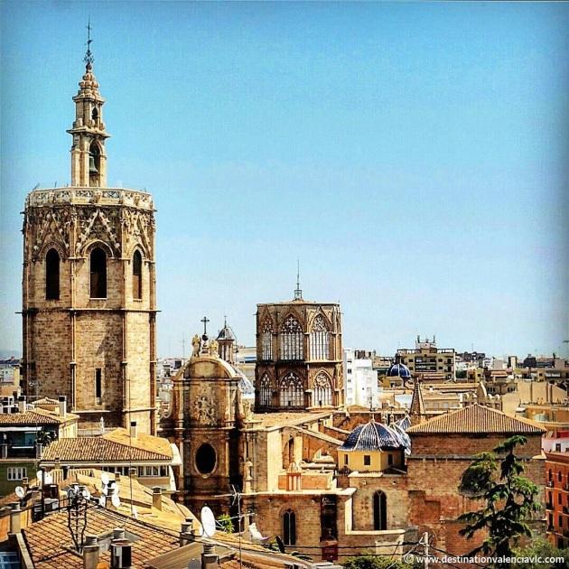 Vistas de la Catedral de Valencia desde la Torre de Santa Catalina