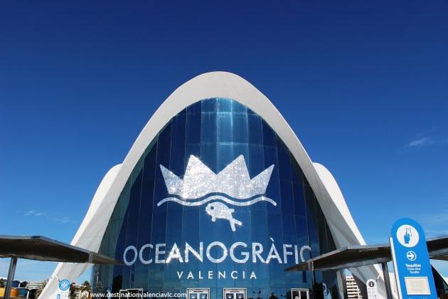 Fachada del Parque Oceanográfico de Valencia
