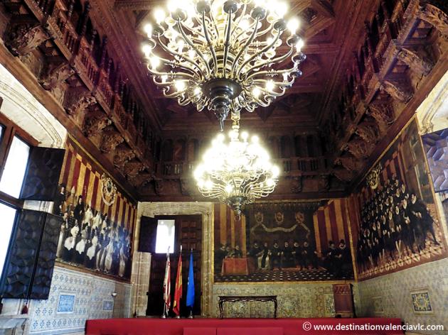 Sala Nova del Palacio de la Generalitat Valenciana