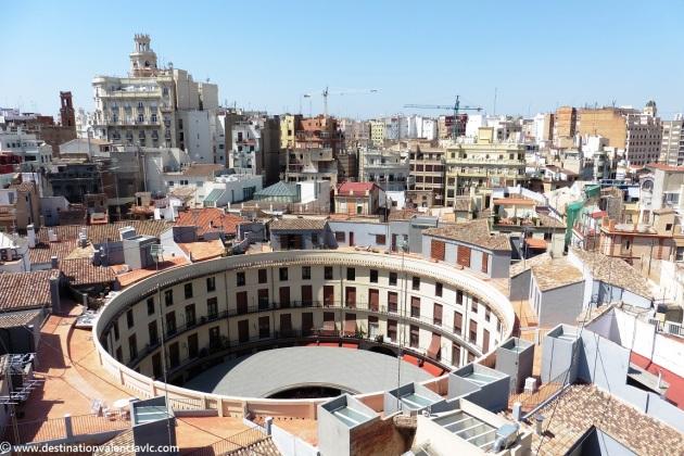 Vistas Plaza Redonda desde la Torre de Santa Catalina en Valencia