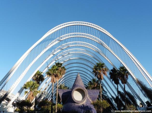 Umbracle en la Ciudad de las Artes y de las Ciencias de Valencia